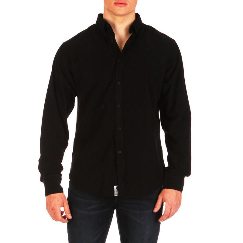 Straight black velour shirt