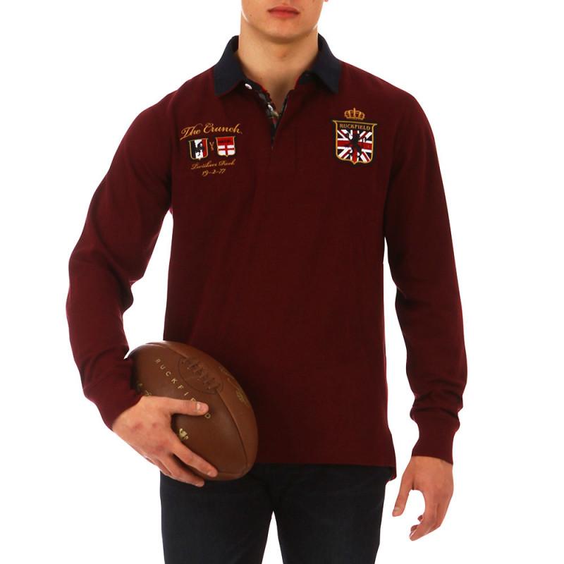 The Crunch burgundy polo shirt