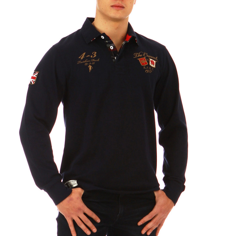 The Crunch navy blue polo shirt