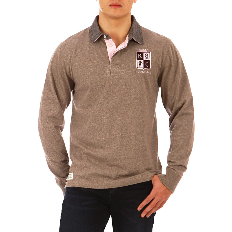 Marl beige British Rugby polo shirt