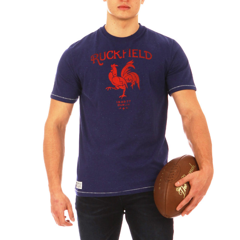 Navy blue and red Ruckfield France t-shirt