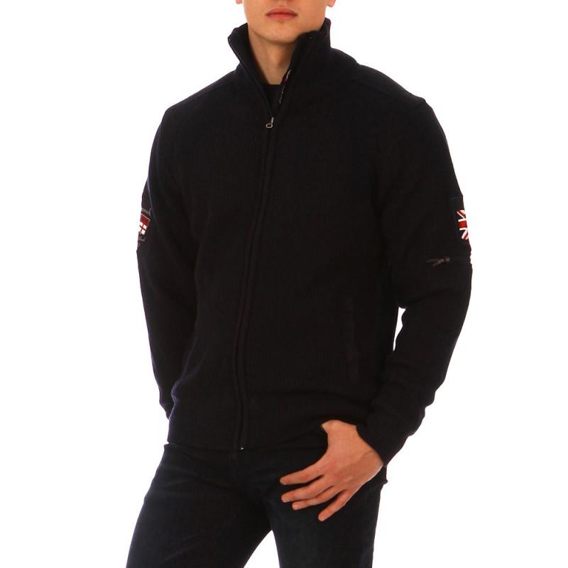The Crunch navy blue zip-up cardigan