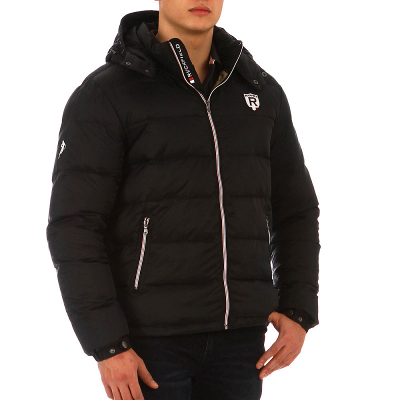 Navy blue French Rugby Club puffa jacket