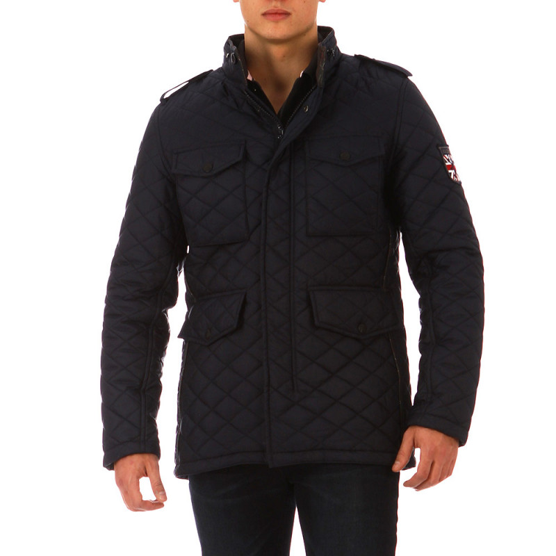 The Crunch navy blue quilted jacket