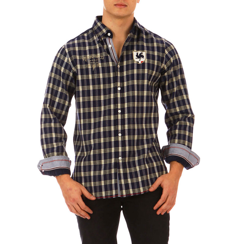 French Rugby Club checked shirt
