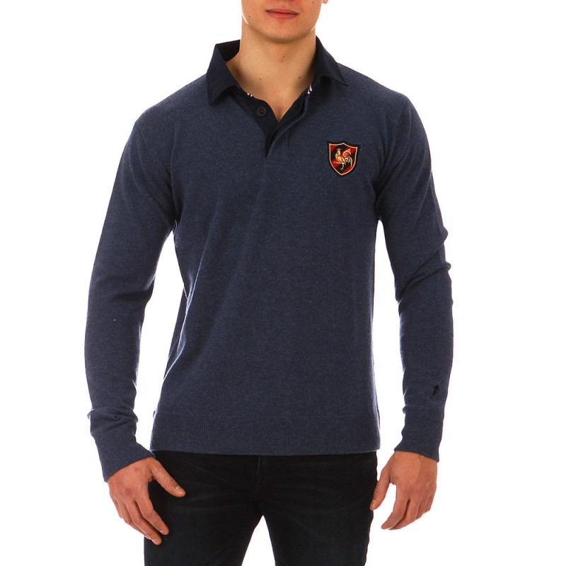 The Crunch jumper with polo shirt collar