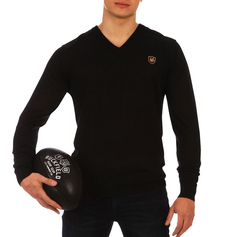 French Rugby Club V-neck jumper