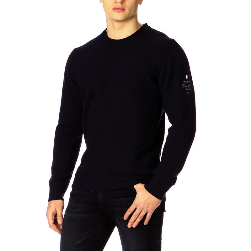 Navy blue Essential Rugby round-neck jumper