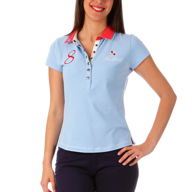 Sky-blue Polo Woman
