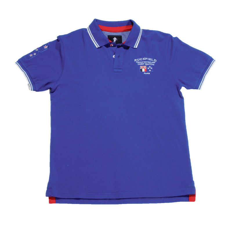 Blue France rugby polo