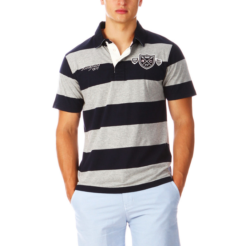 Striped Polo Man