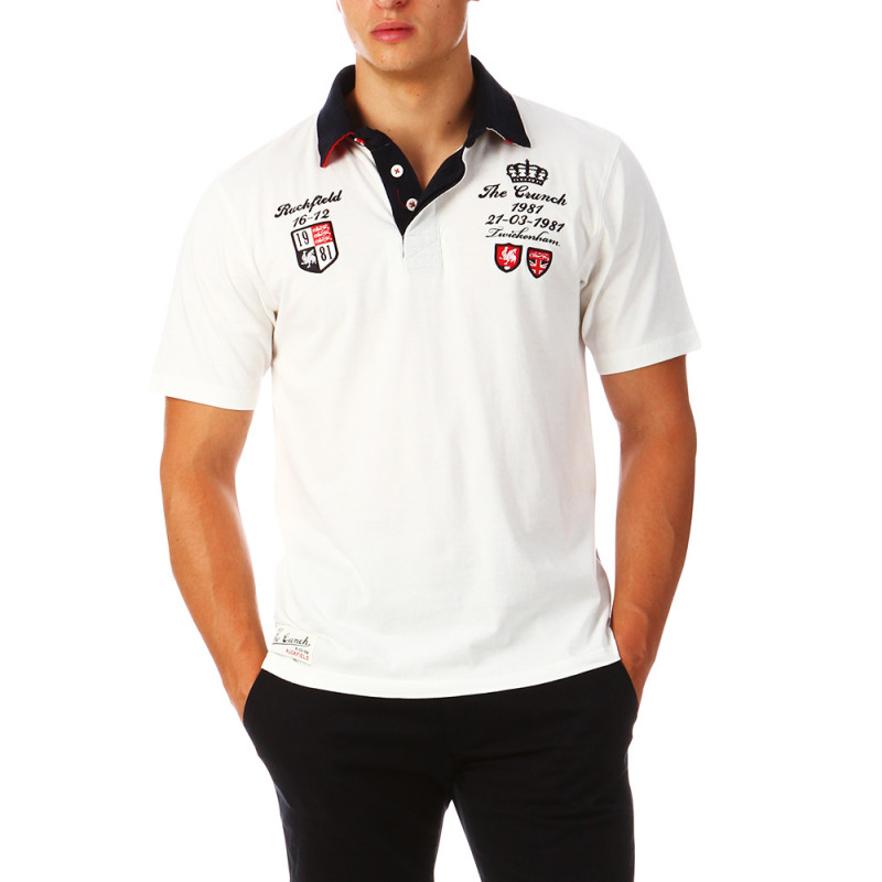 White Rugby Polo