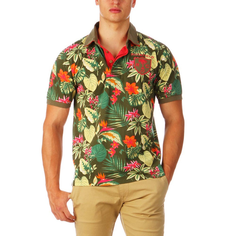 Hawaii Rugby Polo Floral