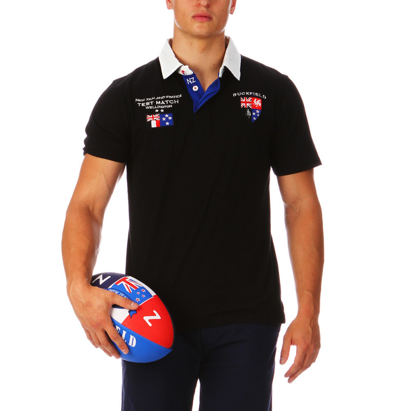 Black Test Match Polo