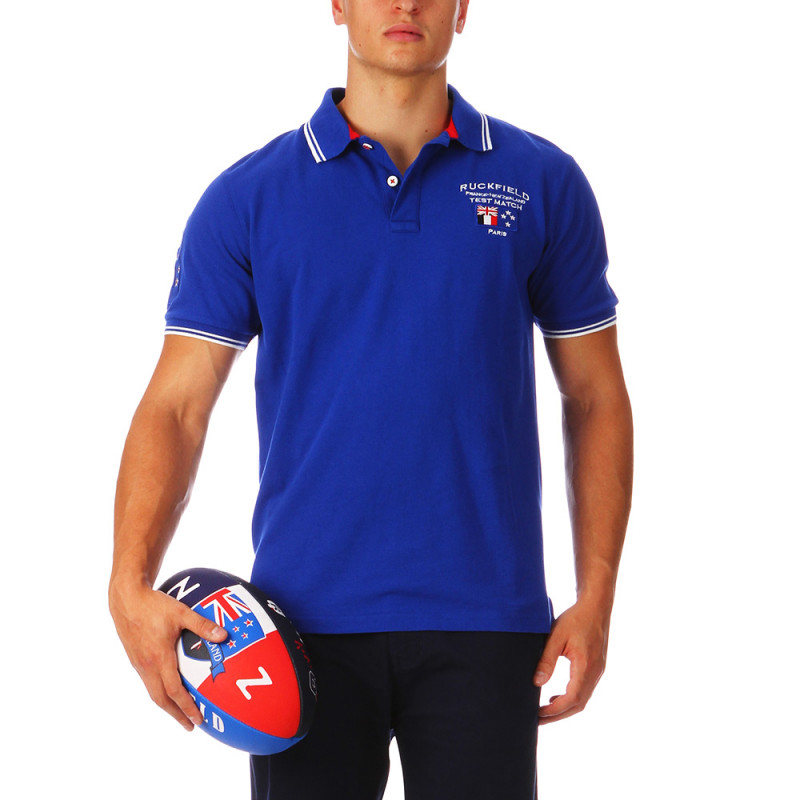 Blue France Test Match Polo