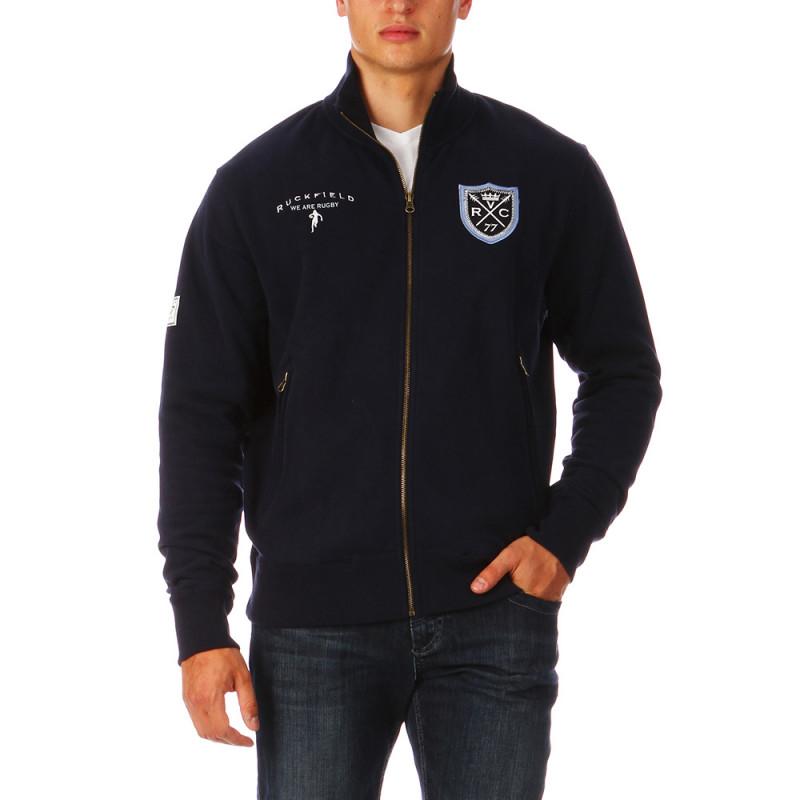 Navy-blue Zipped Sweatshirt