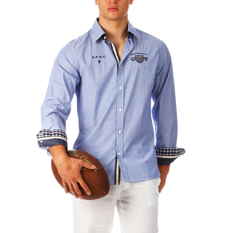 Chemise rugby bleu clair