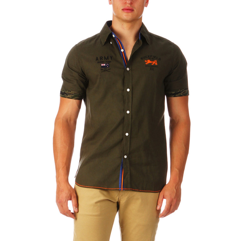 Linen military Khaki shirt