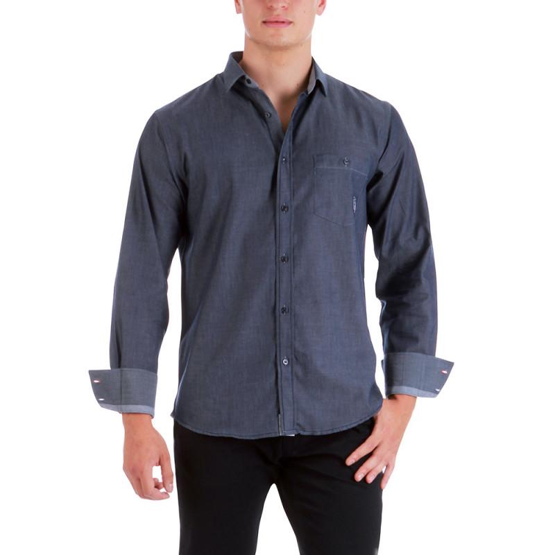 Navy linen shirt France