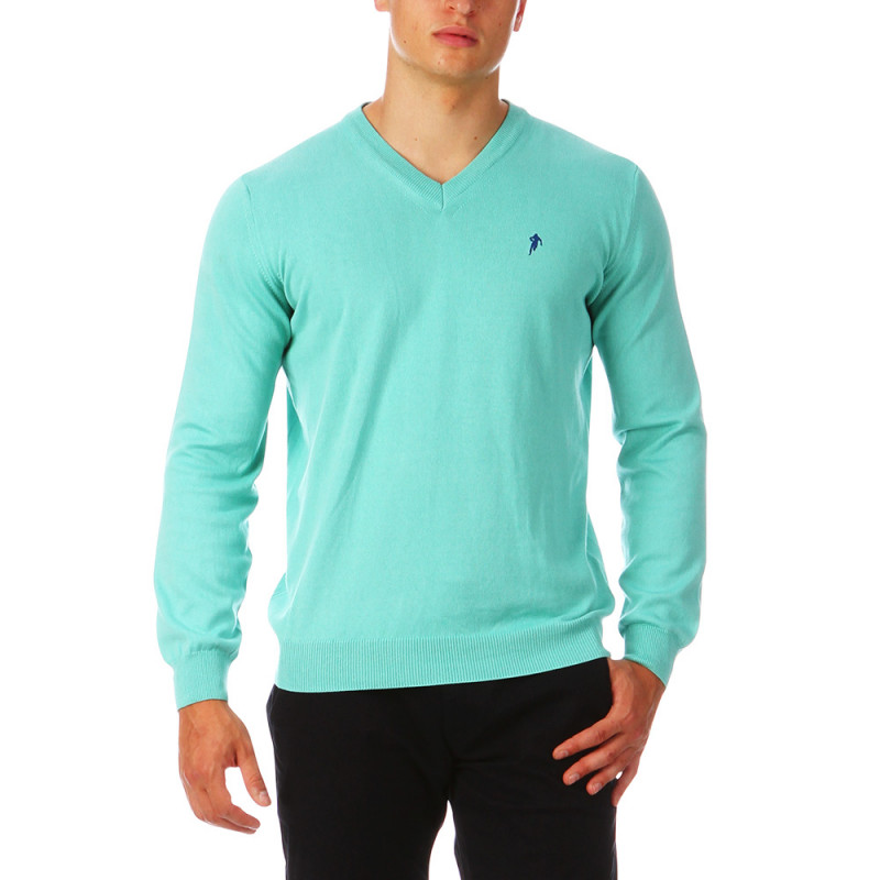 Green sweater Sebastien Chabal