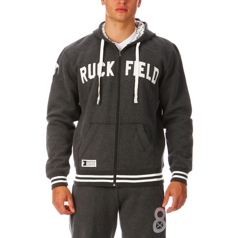 Gray zipped rugby sweater