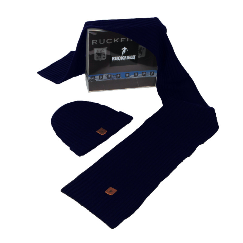 Gift Pack with navy blue hat + scarf