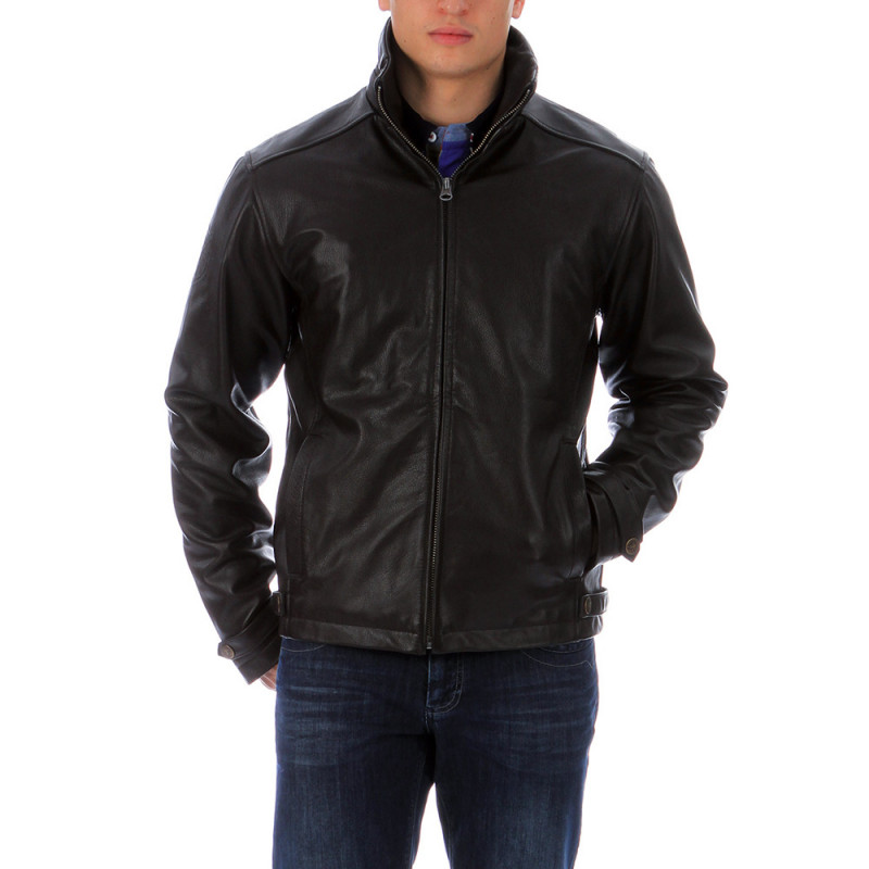 Brown leather jacket Ruckfield