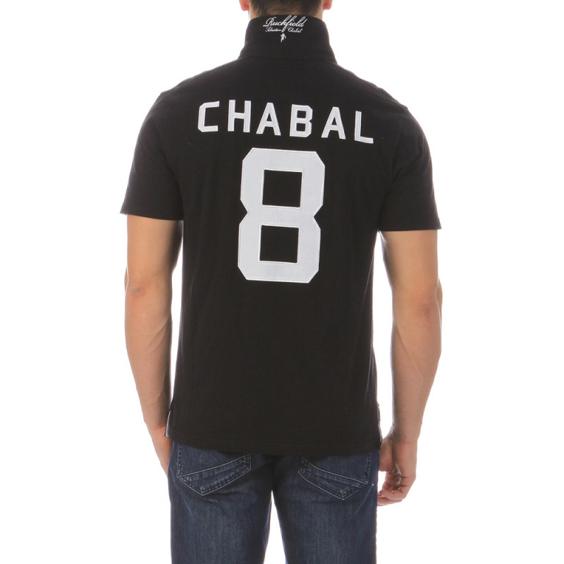 Rugby black polo shirt Chabal