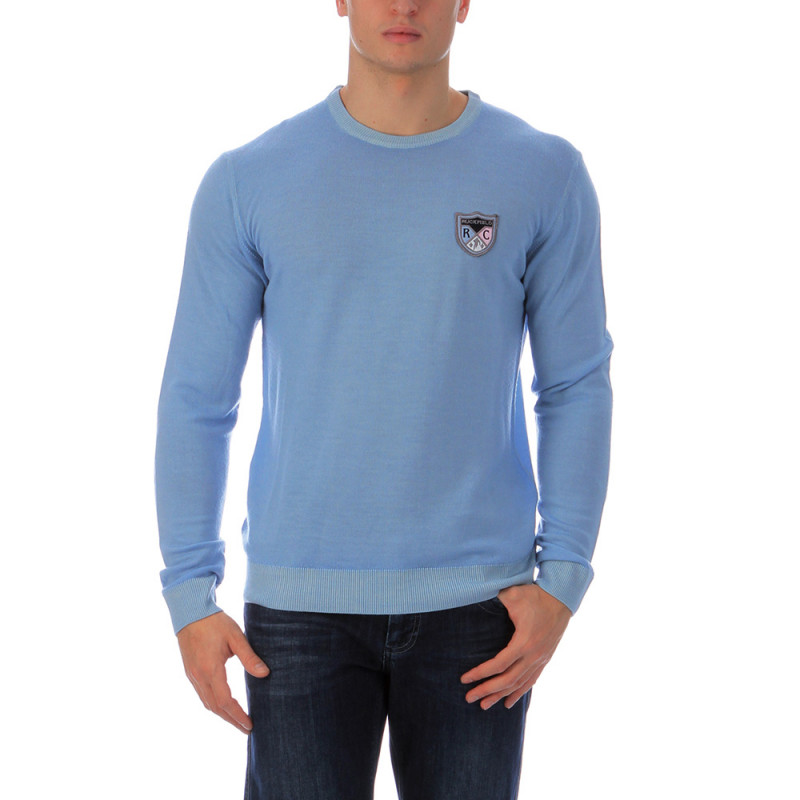 Blue round-neck pullover Chabal