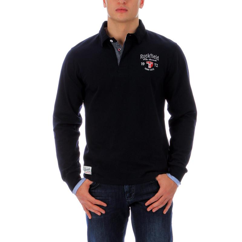 Navy-blue polo shirt The Crunch