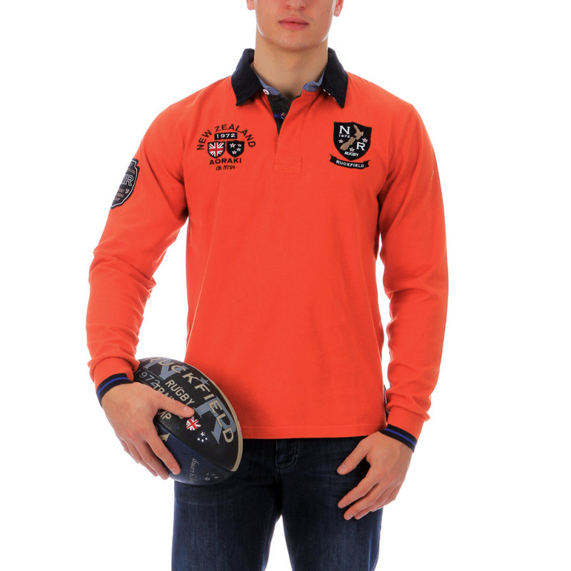 Orange outdoor polo shirt Chabal