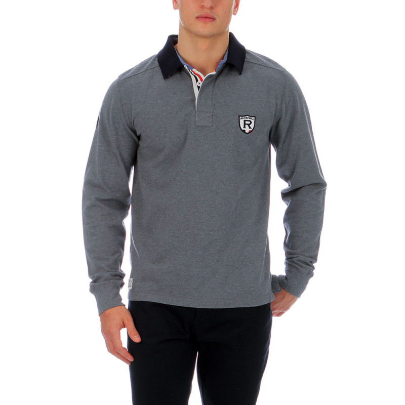 Heather grey polo shirt France