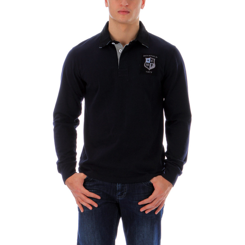 Navy-blue rugby polo shirt 1977