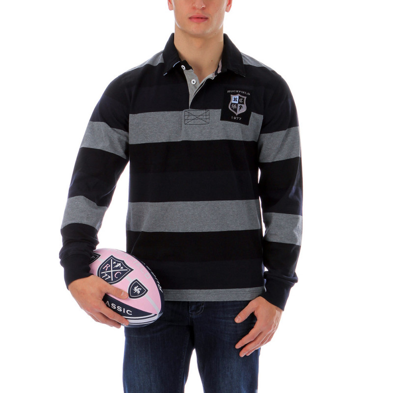 Striped rugby polo shirt 1977
