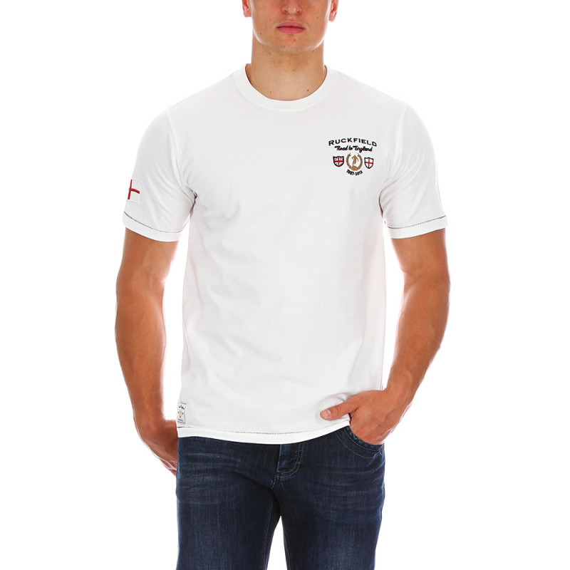 White rugby T-shirt England