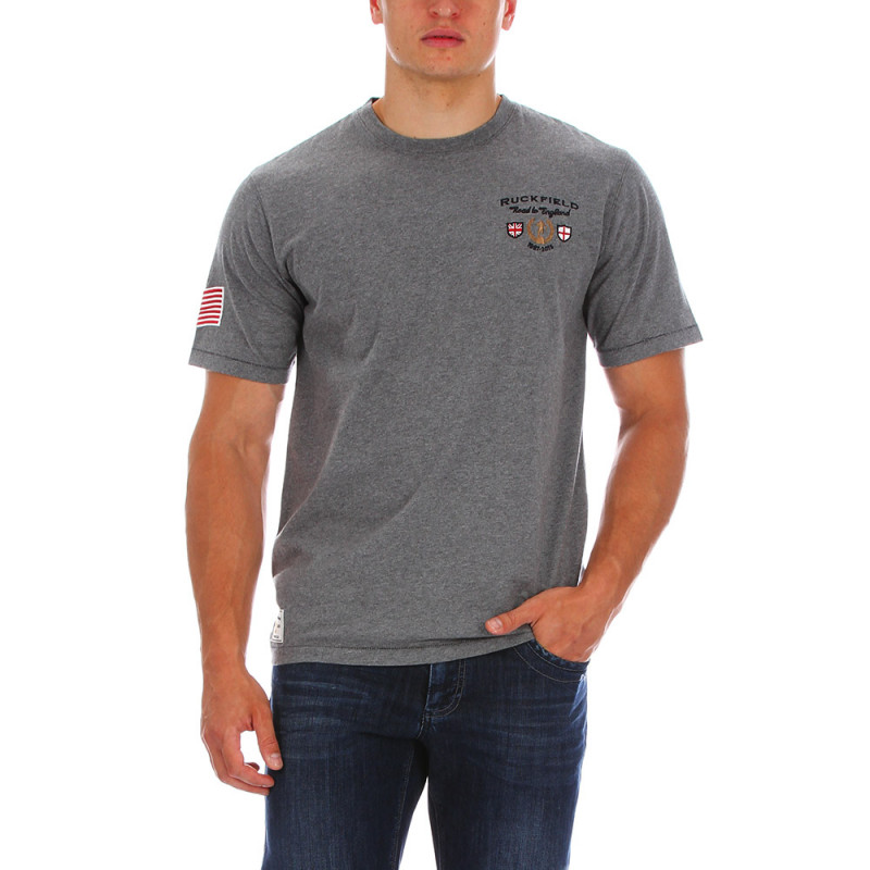 Grey rugby T-shirt USA