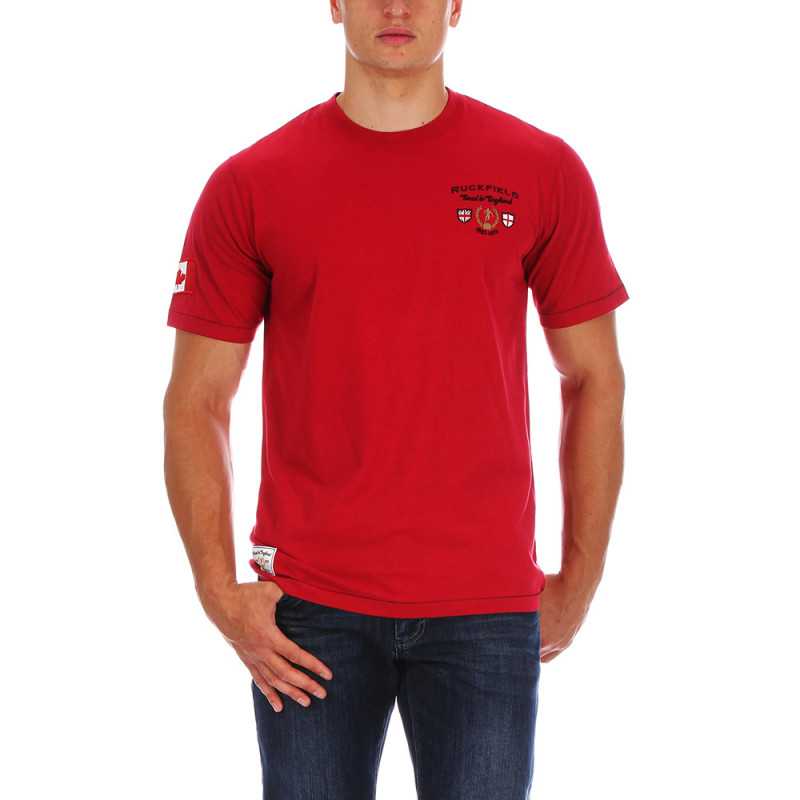 Red rugby T-shirt Canada