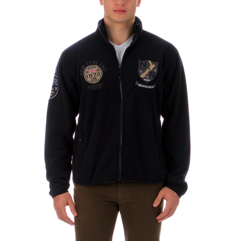 Navy fleece rugby sweatshirt