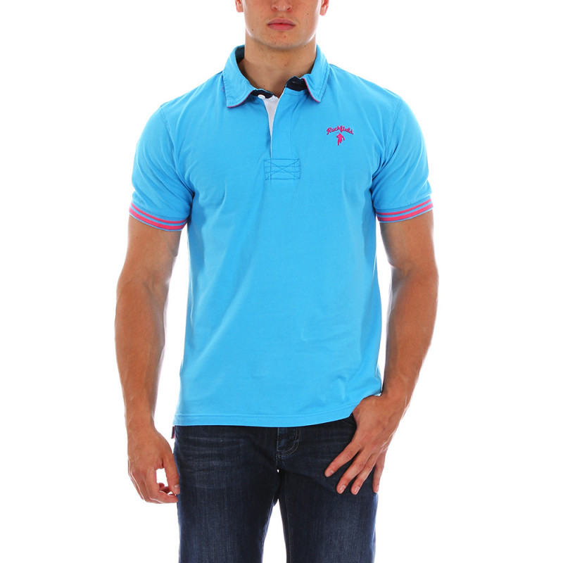 Blue Chabal rugby polo shirt
