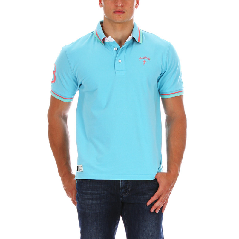 Turquoise Chabal rugby polo shirt