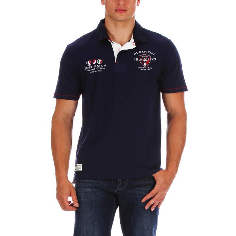 Blue Test Match polo shirt