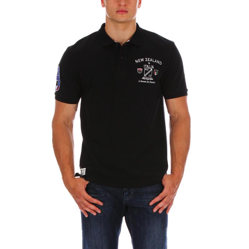 Black Test Match polo shirt