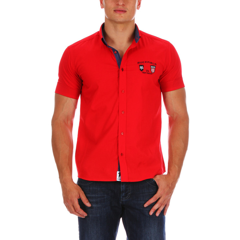 Red Ruckfield shirt.