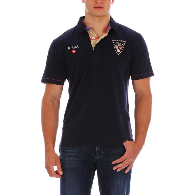 Navy blue Maison du Rugby polo shirt
