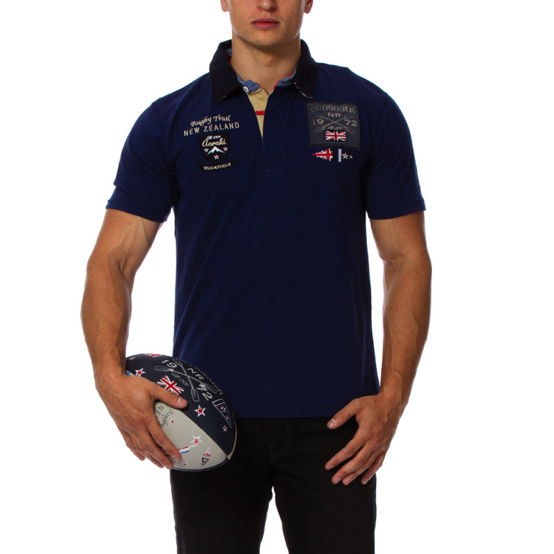 Rugby Camp navy blue polo shirt