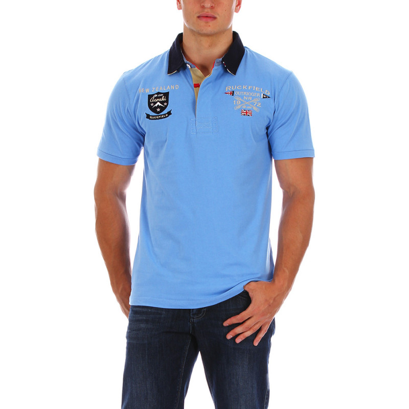 Sky blue Rugby Camp polo shirt