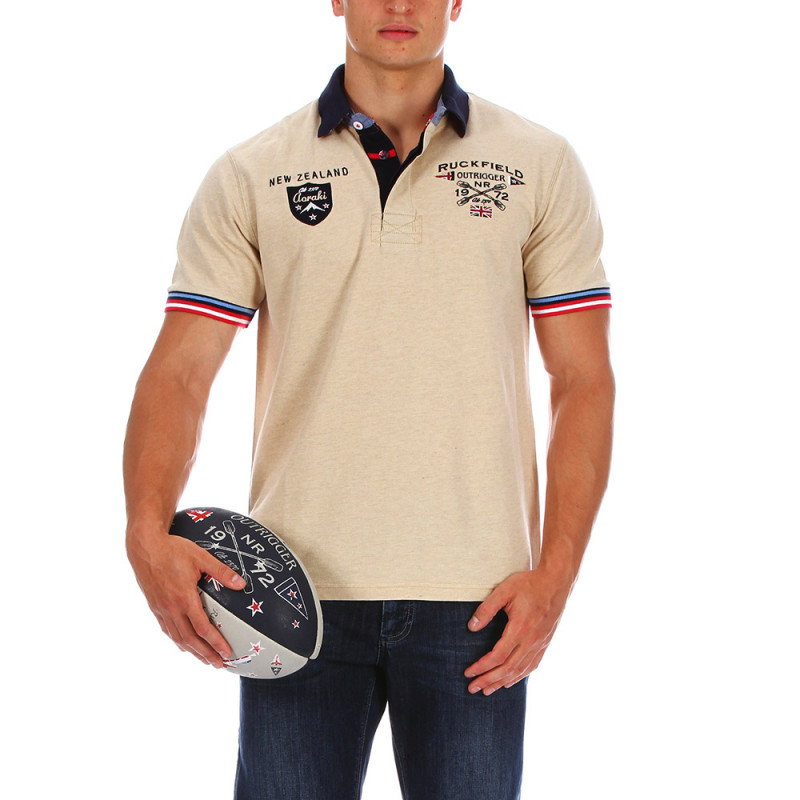 Beige Summer Trail polo shirt