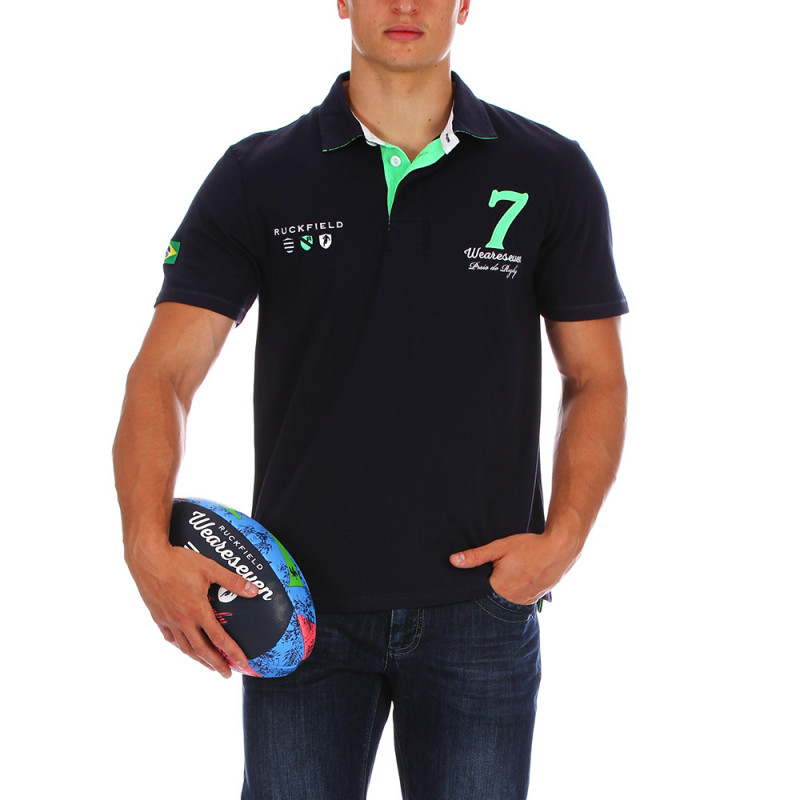 We are Seven navy blue polo shirt