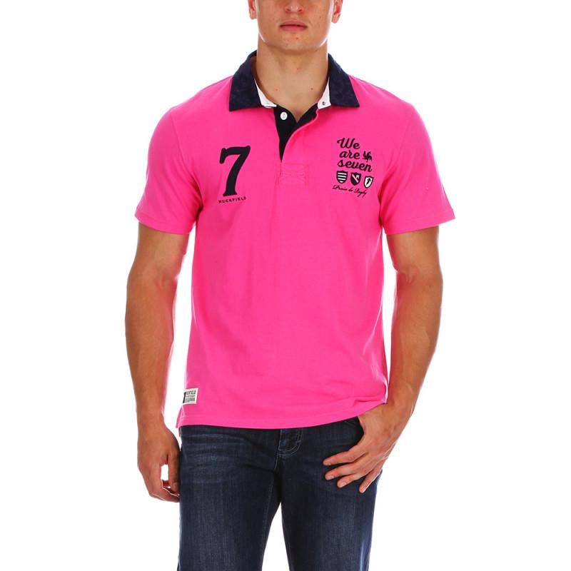 Fuchsia beach rugby polo shirt