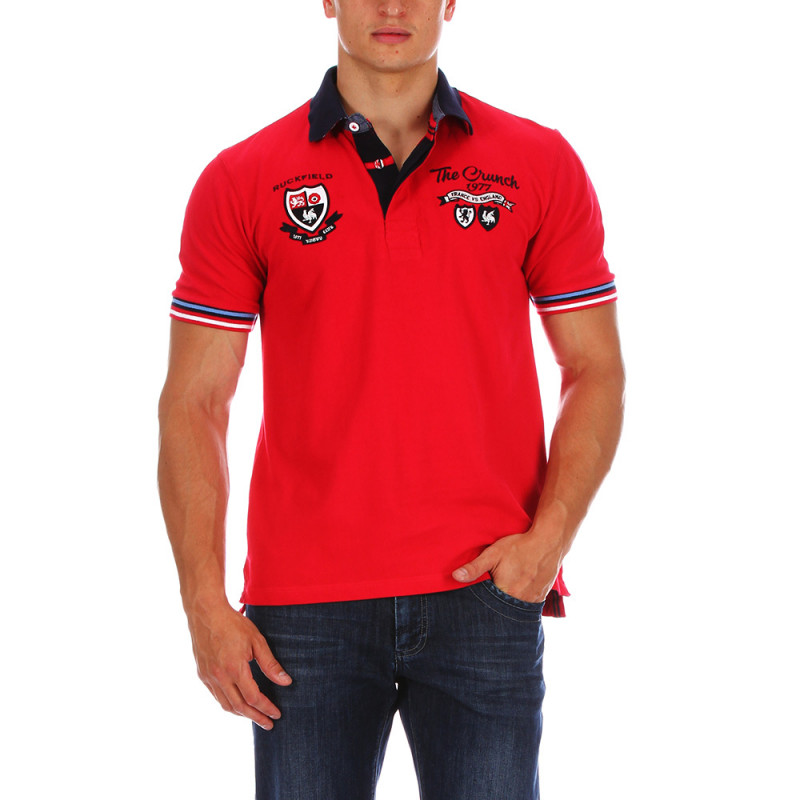 Red The Crunch polo shirt